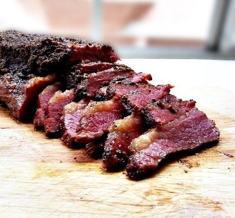 Homemade corned beef turned into an outrageously flavorful and tender pastrami that is similar to Katz deli in New York!
