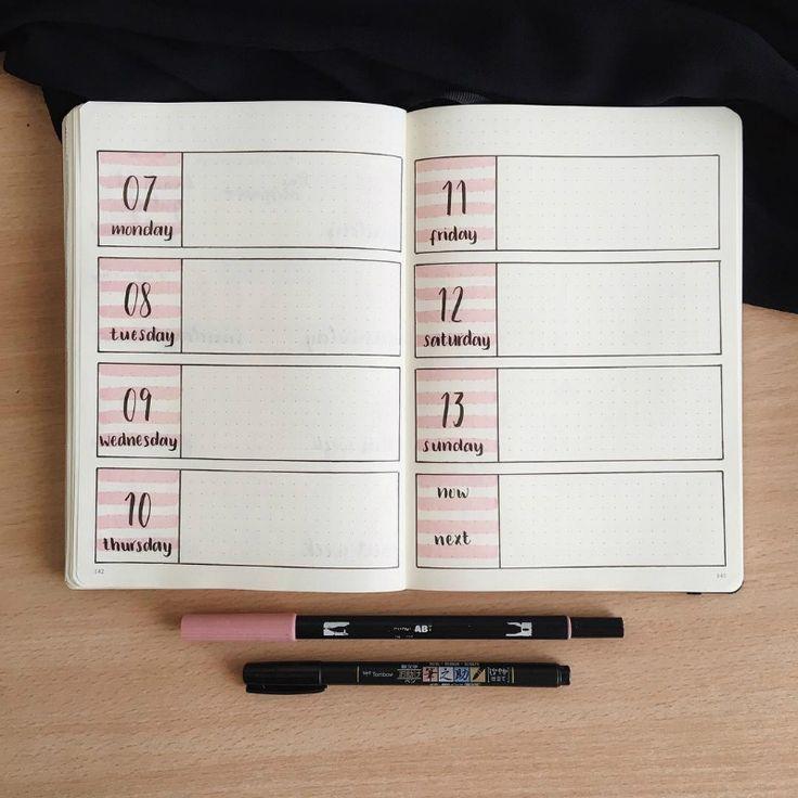 15 atemberaubende minimalistische Bullet-Journal-S…