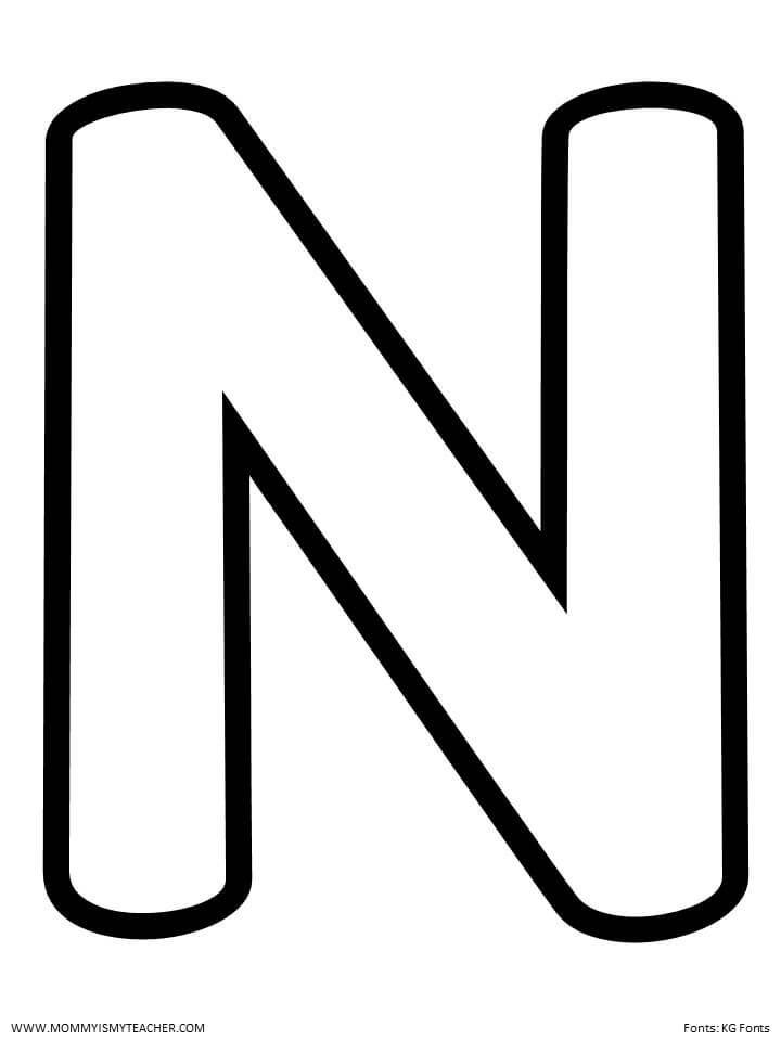 N Blank Jpg Letter N Alphabet Worksheets Kindergarten Preschool Letters Printable letter n worksheets