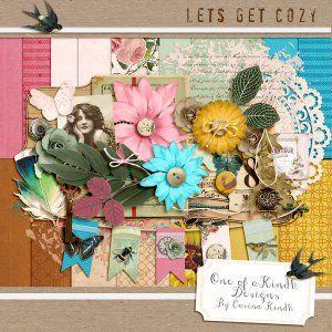 "New free digital kit on my blog - ""Let´s Get Cozy"""