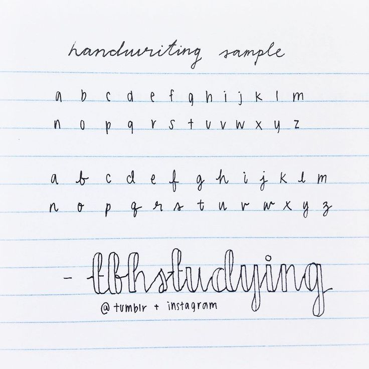"here's a handwriting sample with both printed and cursive! this was written with a black uniball signo um-151 in 0.38 mm. how to do the cursive font like ""tbhstudying"" : double the downstrokes on your cursive letters, but don't shade them in. just leave them hollow and erase the marks that you don't want :-)"