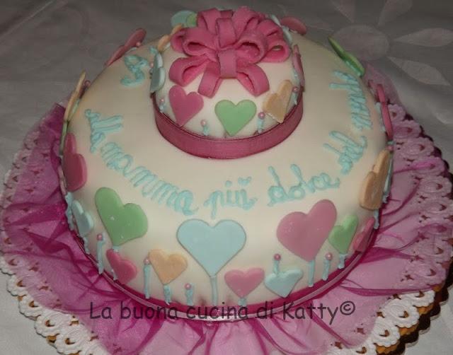 Torta cuori colorati per la mia mamma