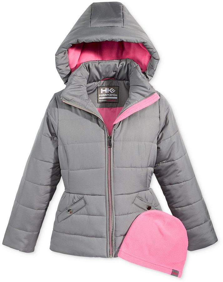 Hawke & Co. Outfitter Isabel Hooded Puffer Jacket with Hat, Toddler Girls (2T-5T)