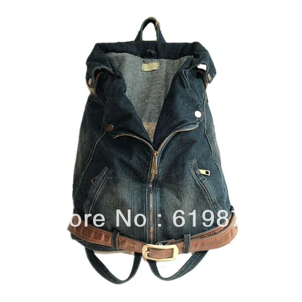 vestiti sacchetto di scuola 2013 donne borsa retro denim personalizzato zaino