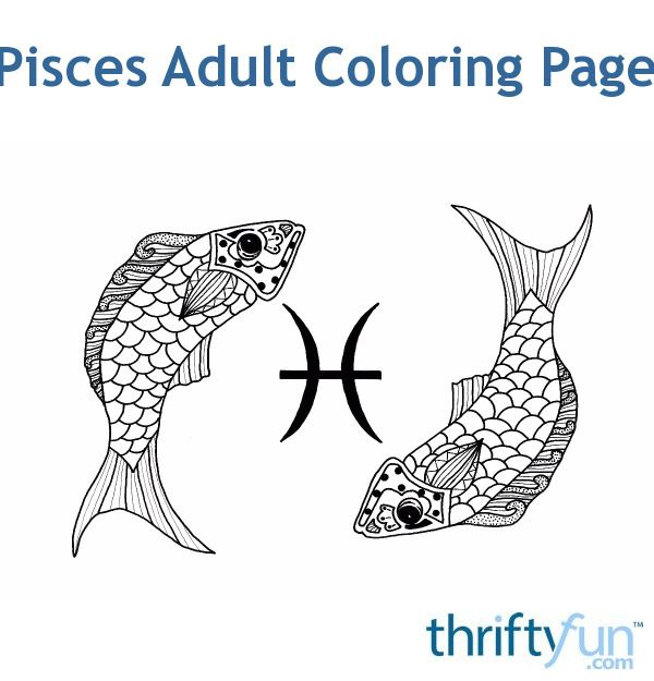 A FREE coloring page! Pisces is a water sign and the last sign of the zodiac. People born under this sign, between February 18 - March 20, are said to be empathic, intuitive, and artistic. #coloring #adultcoloring #zodiaccoloring