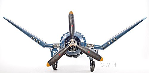 "XL 1:12 Scale Vought F4U Corsair Metal Model 41"" WWII Aircraft Airplane Decor - CaptJimsCargo"