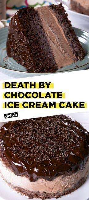 Death By Chocolate Ice Cream Cake Recipe You Need Some Chocolate Pinterest Kuchen Dessert And Backen
