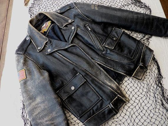 Harley Davidson Vintage Distressed Leather by GoddessesUnlimited