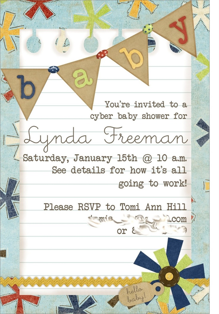 25+ best ideas about virtual baby shower on pinterest | virtual, Baby shower invitations
