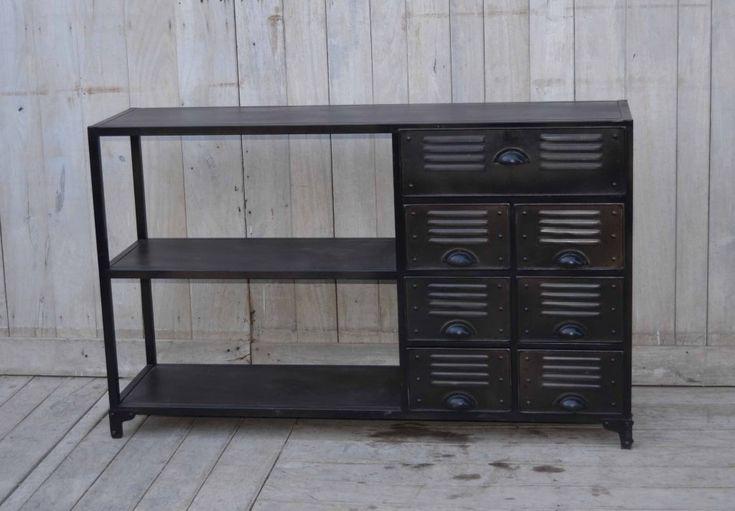 Avlastningsbord och byrå av metall - Svart - Hyllor & Avlastningsbord - Förvaring - Myhomemyway.se