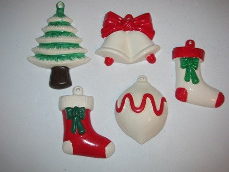 Ceramic Hand Painted Christmas Ornaments 14 by TheIDconnection, $15.00