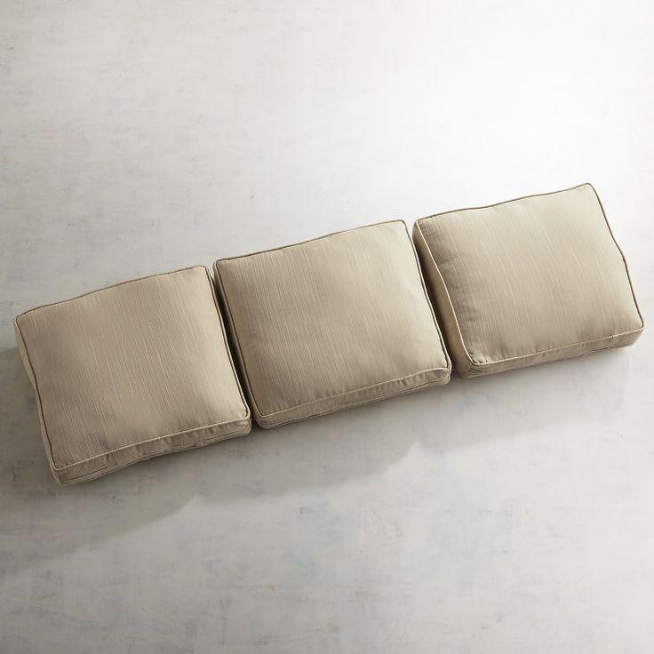 Large Modular Wedge Cushion In Draper Bisque Natural