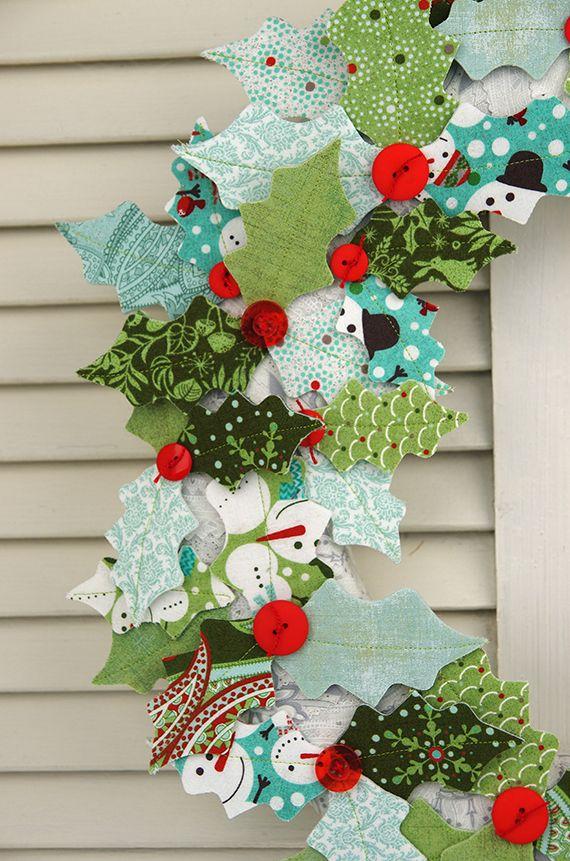 Blitzen Fabric Wreath from Basic Grey blog