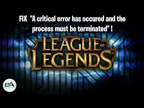 """In this video, I show you how to fix the """"A critical error"""