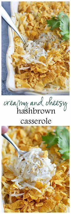 Make this traditional Creamy and Cheesy Hashbrown Casserole extra special by replacing the canned condensed celery soup with an easy homemade version! | casseroles | side dishes | hashbrown casserole | homemade casserole | holiday side dish || Kitchen Meets Girl #casserole girl