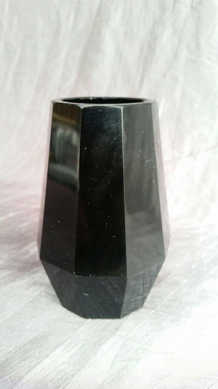Vase, Dark violet glass, Bohemian 1850 - 75