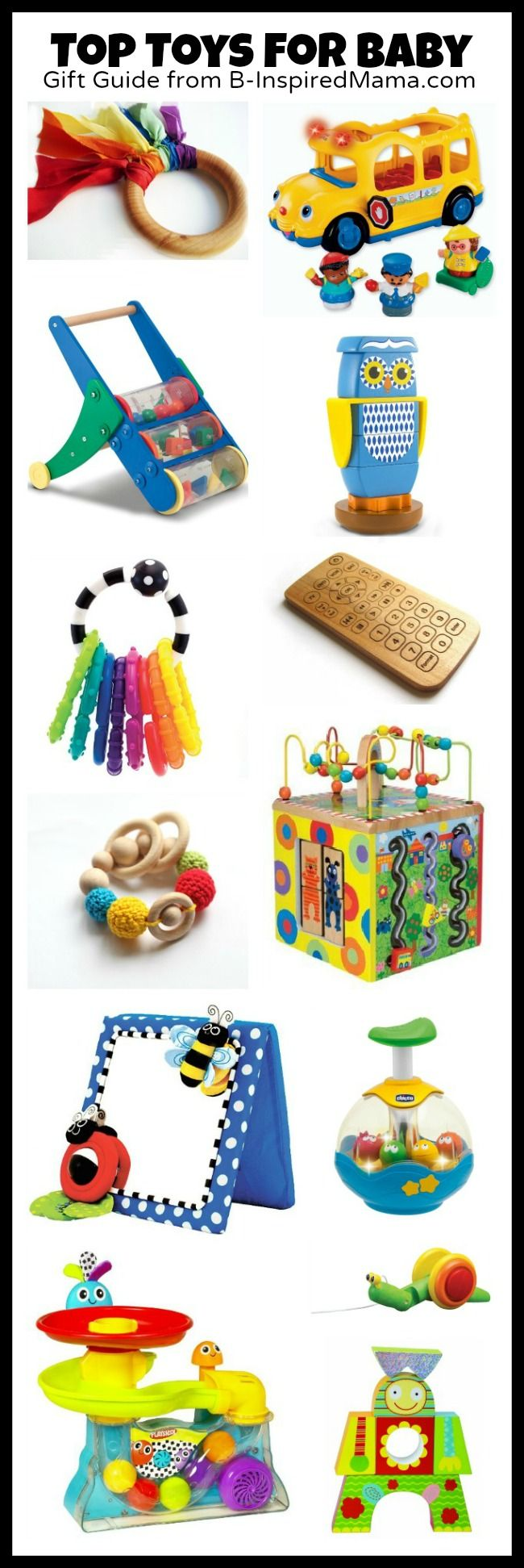 Toys for Babies [Plus Huge Holiday Gift Guide] AND a GIVEAWAY for a Melissa & Doug Push Toy!!! B-InspiredMama.com