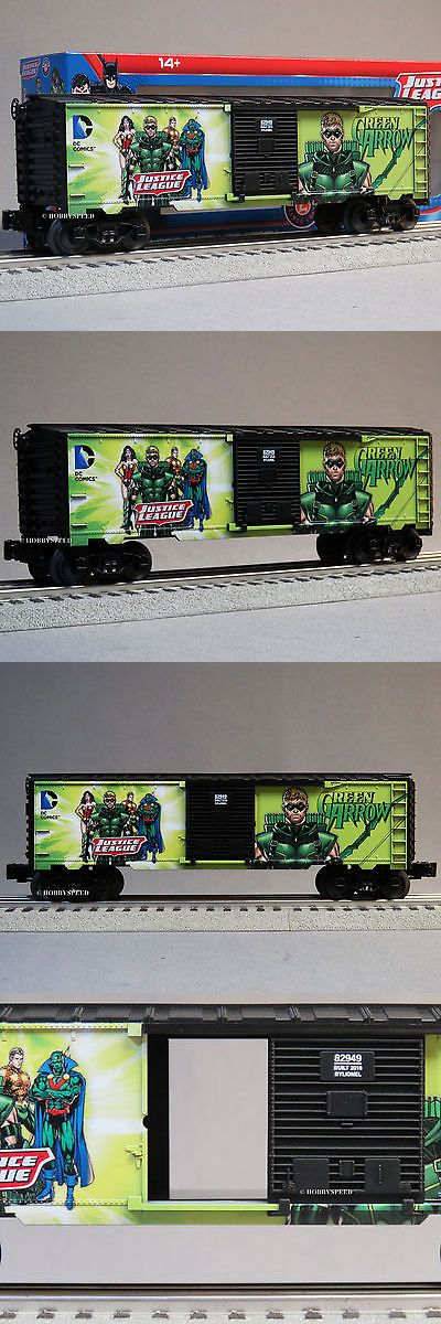 Freight Cars 122596: Lionel Justice League Green Arrow Boxcar Marvil 6-82947 Comics Train 6-82949 New -> BUY IT NOW ONLY: $72.11 on eBay!