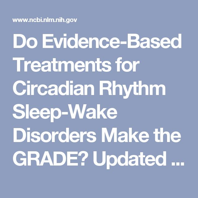 Do Evidence-Based Treatments for Circadian Rhythm Sleep-Wake Disorders Make the GRADE? Updated Guidelines Point to Need for More Clinical Research