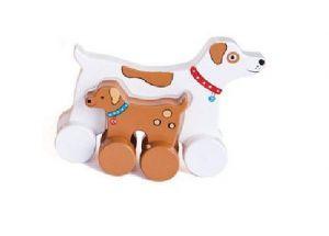 Jack Rabbit Creations Dog Mommy & Baby Push Toy