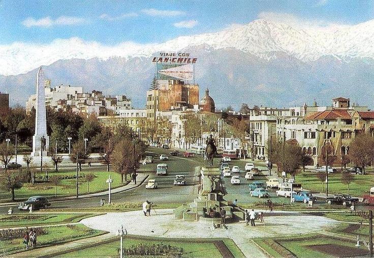 Plaza Baquedano, Santiago de Chile 60's
