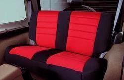 Neoprene Seat Cover 91-95 Wrangler YJ Set Front/Rear Red Smittybilt