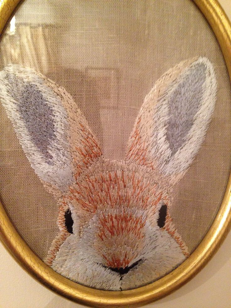 Bunny embroidery on the Irish-this is so cute and done with a zig zag machine! Wish I could find out more about it.