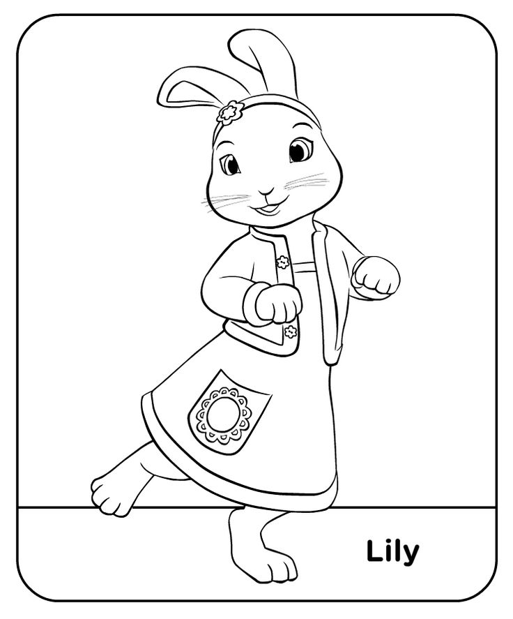 Peter Rabbit Colour Lily Treehouse Colouring Pages