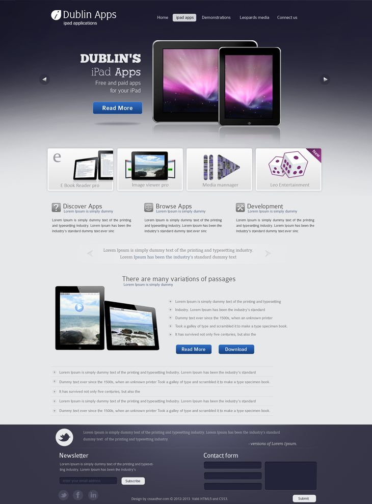 Dublin iPad Apps – Home Page