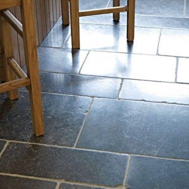Tumbled and Light Pillow Edge, Honed - Belgian Bleu Limestone - Wall & Floor Tiles | Fired Earth