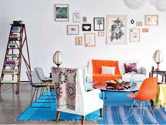blue and orange.  sfgirlbybay, living etc.  a little bit of everything