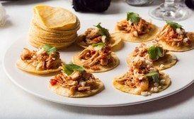Bite-Size Chipotle Chicken Soft Tacos (_tinga de pollo_)