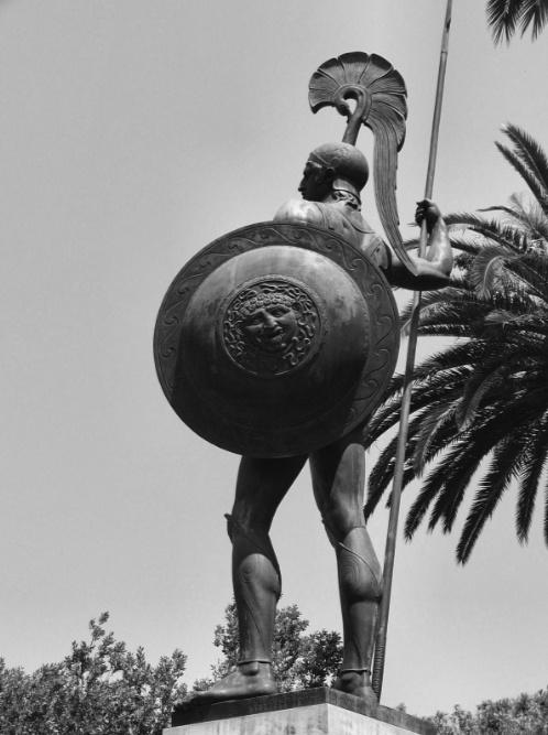 Achilles statue in the garden of Achilleus, Corfu