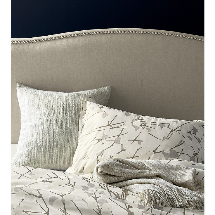 """Shop Marimekko Lumimarja King Duvet Cover.  Make a calm and peaceful bedroom retreat with bed linens inspired by snow-covered trees.  Designed by Erja Hirvi in 2004, Lumimarja (""""snowberries"""") is an expressive, organic botanical print in restful neutrals."""