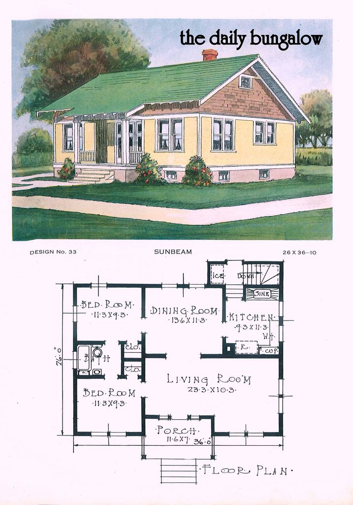 Vintage cottage house plans for Vintage home floor plans