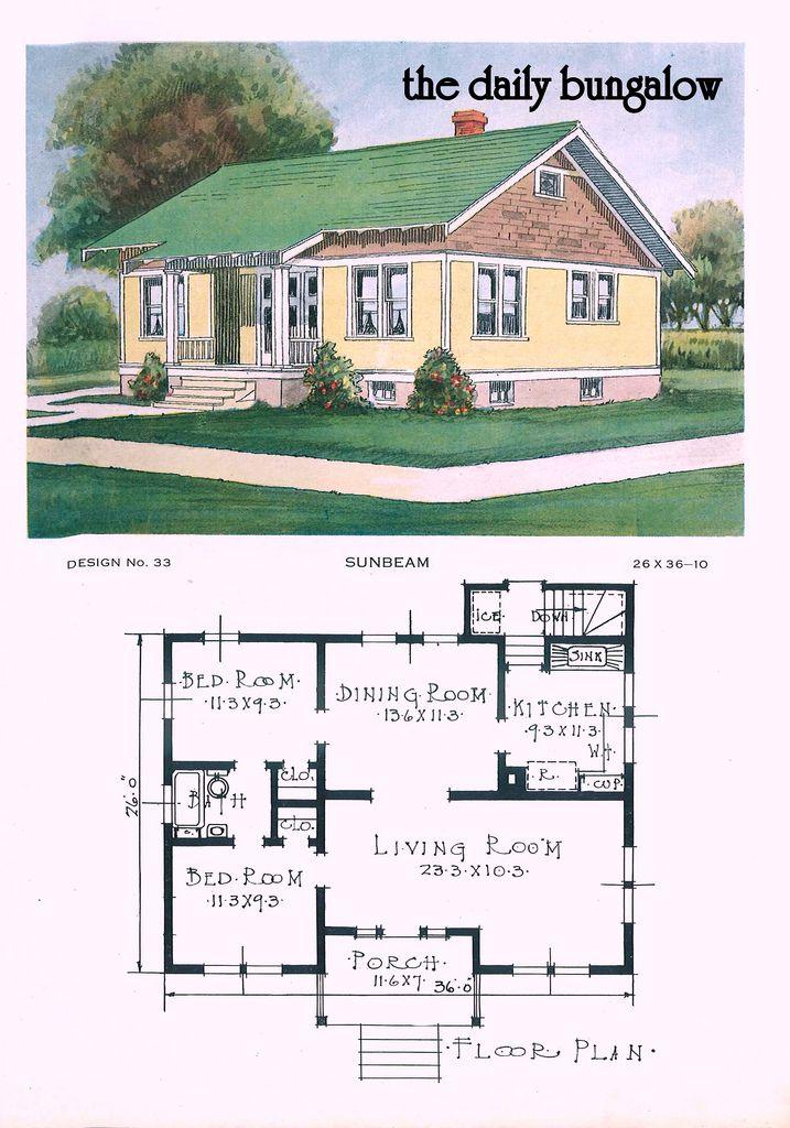 Best 25+ Vintage house plans ideas on Pinterest Bungalow floor - bungalow floor plans
