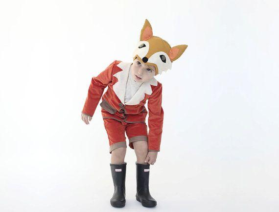 Halloween kostuum jongens fox kostuum van inbalcarmistudio op Etsy