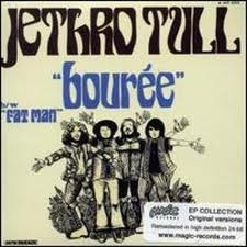 """Bourrée in E minor is a popular lute piece, the fifth movement from Suite in E minor for Lute, written by Johann Sebastian Bach.  Jethro Tull used the piece in the third track in their August 1969 album Stand Up, """"Bourée""""."""