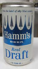 Hamm's Beer Real Draft 12 oz aluminum top opened pull tab can.