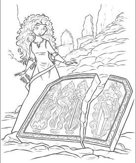 Princess Merida Brave Coloring Pages Trend Disney For Mulan