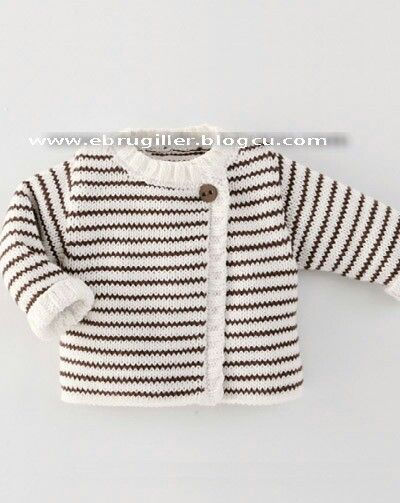 striped baby sweater / cardi