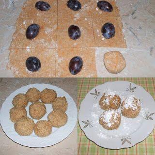 Tojásmentes paleo szilvásgombóc; Gluténmentes vegán szilvás gombóc; Szénhidrát-csökkentett diétás szilvás gombóc