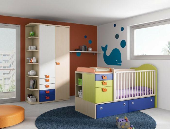 Amazing Babyzimmer Set orange wand rund teppich