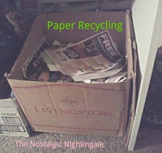 Day 1: Create Paper Recycle Station - thenostalgicnightingale.blogspot.com