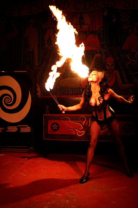 Night Circus fire eater