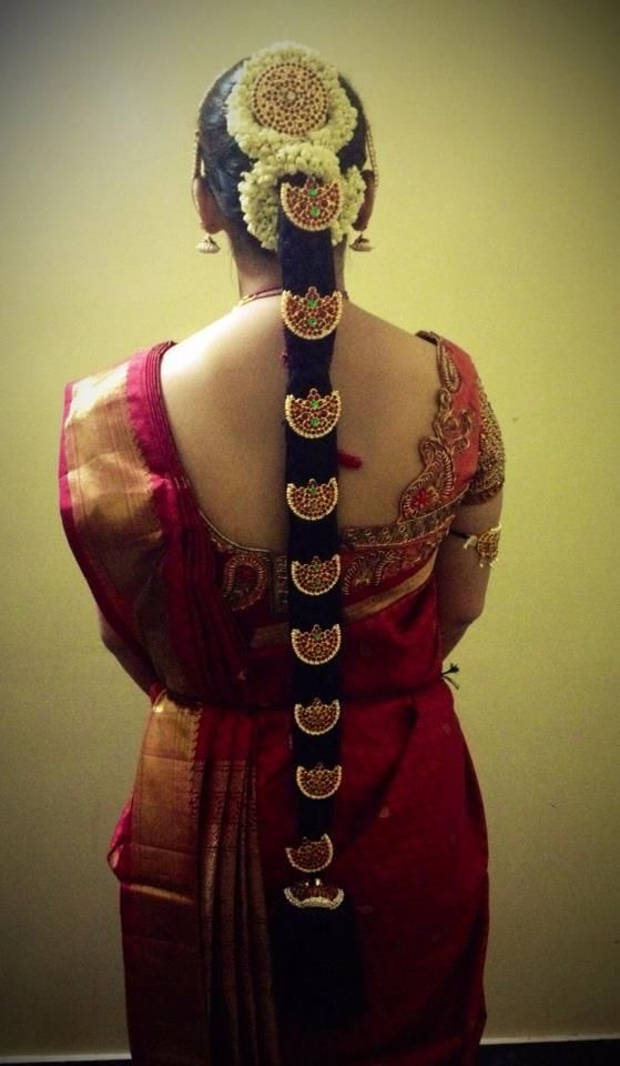 South Indian bride | bridal hairstyle