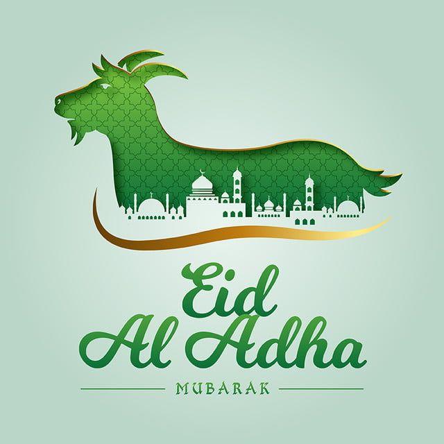 Islamic Eid Al Adha Mubarak Nice Greeting Card Eid Al Adha Goat Lamb Sacrifice Png And Vector With Transparent Background For Free Download Seni Vektor Kartu Domba