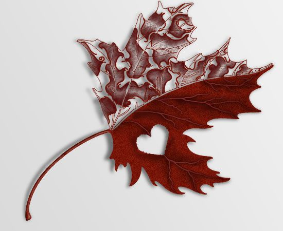 Decorative Maple Leaf Tattoo