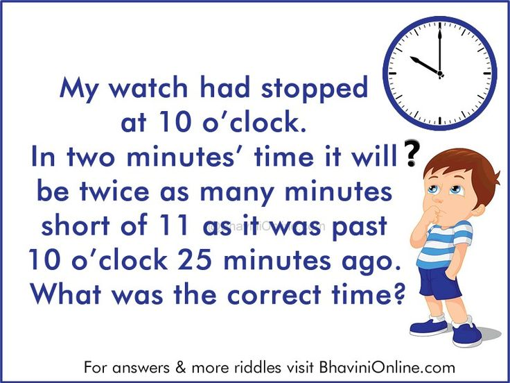 Clock Brain Teaser What Was The Correct Time Bhavinionline Com Brain Teasers Correct Time Riddles To Solve