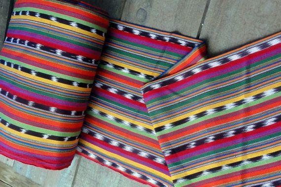 Guatemalan Fabric in Juicy Fruit Stripe by Spanglishfabrics